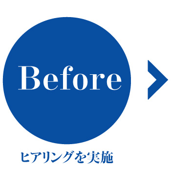 Before ヒアリングを実施
